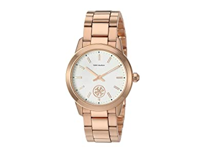 Tory Burch Collins Bracelet Watch (Rose Gold TBW1307) Watches