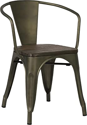 EM-113-GRY-X4 Poly and Bark Trattoria Arm Chair in Grey Set of 4