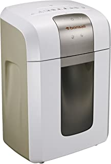 Bonsaii Heavy Duty Paper Shredder, 12-Sheet Cross-Cut with 60 Minutes Continuous Running Time, Quiet Shredders Machine for Office/Home Use, Shreds CD/Credit Card/Staples, White(EverShred Pro 3S16)