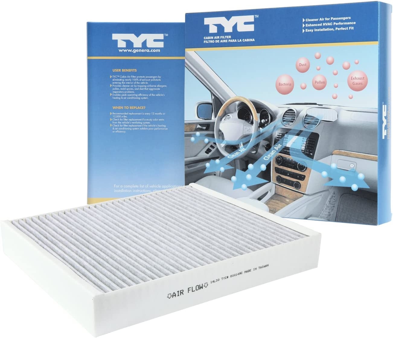 TYC New products world's highest quality popular 800149C Buick Lacrosse Air Recommendation Replacement Filter Cabin