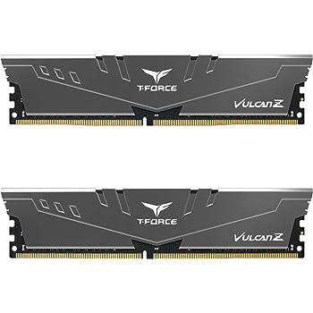 TEAMGROUP T-Force Vulcan Z DDR4 16GB Kit (2x8GB) 3000MHz (PC4-24000) CL16 Desktop Memory Module Ram (Gray) - TLZGD416G3000HC16CDC01