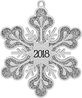 2018 Annual Silver Snowflake Harvey Lewis™ Silver-plated Ornament - Made with 12 Swarovski® Element