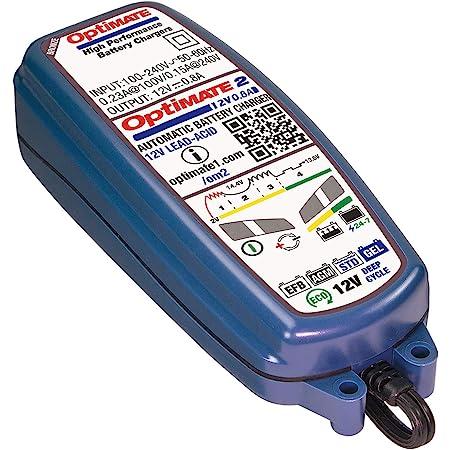 TecMate OptiMate 2, TM-420, Chargeur-Mainteneur de batterie étanche 12 V 0.8 A en 4 étapes
