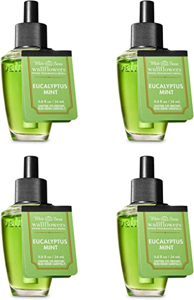 Bath Body Works Eucalyptus Mint Fragrance Bulb Bundle Of 4