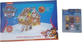 Paw Patrol Gingerbread Pup House Cookie Kit And 6 Rescue Team Mini Figurines (Bundle)