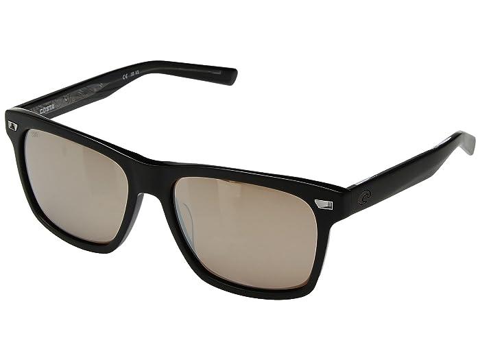 Costa  Aransas (Matte Black Frame/Copper/Silver Mirror 580G) Athletic Performance Sport Sunglasses