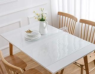 Protection de Table Crystal Toutes Dimensions (Transparent, Protection de Table Rectangle 90x140 cm)