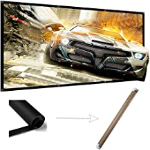 100 Inch Projector Screen Wrinkle Free Portable Indoor Outdoor Movie Screens 16:9 HD 4K with Hanging Hole Grommets Rolling High Color Reduction Home Theater Projection Cinema