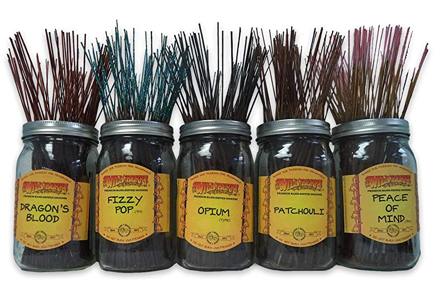 ベットベンチャー潜在的なWild Berry Incense Sticks Best Sellerセット# 1?: 10?Sticks各5の香り、合計50?Sticks 。