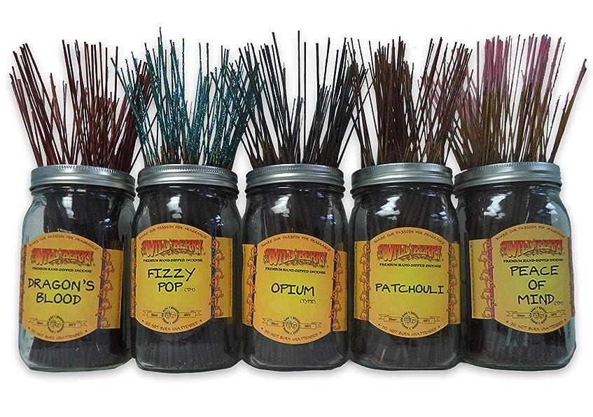 ウェイター暖かく観察するWildberry Incense Sticks Best Sellerセット# 1?: 4?Sticks各5の香り、合計20?Sticks 。