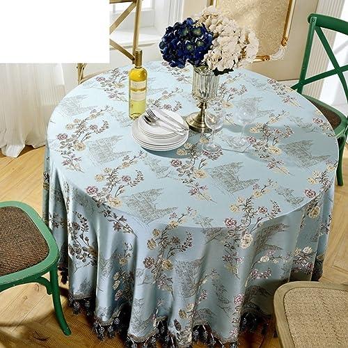 Europ ch,Big Round Table Cloth,Stofürunden Nach Hause Tischdecke,Restaurant Eight Immortals Tisch Tischdecke,Western Restaurant Tischdecke-A Durchmesser280cm(110inch)