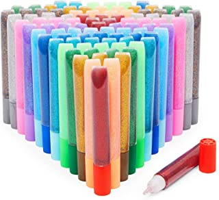 Glitter Glue Pens for Art and Crafts, 12 Rainbow Colors (0.35 oz, 96 Pack)
