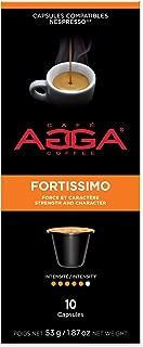 Agga Coffee, Espresso Fortissimo, 60 Nespresso Compatible Capsules, Intensity 5/6, Compatible with Nespresso OriginalLine Machines