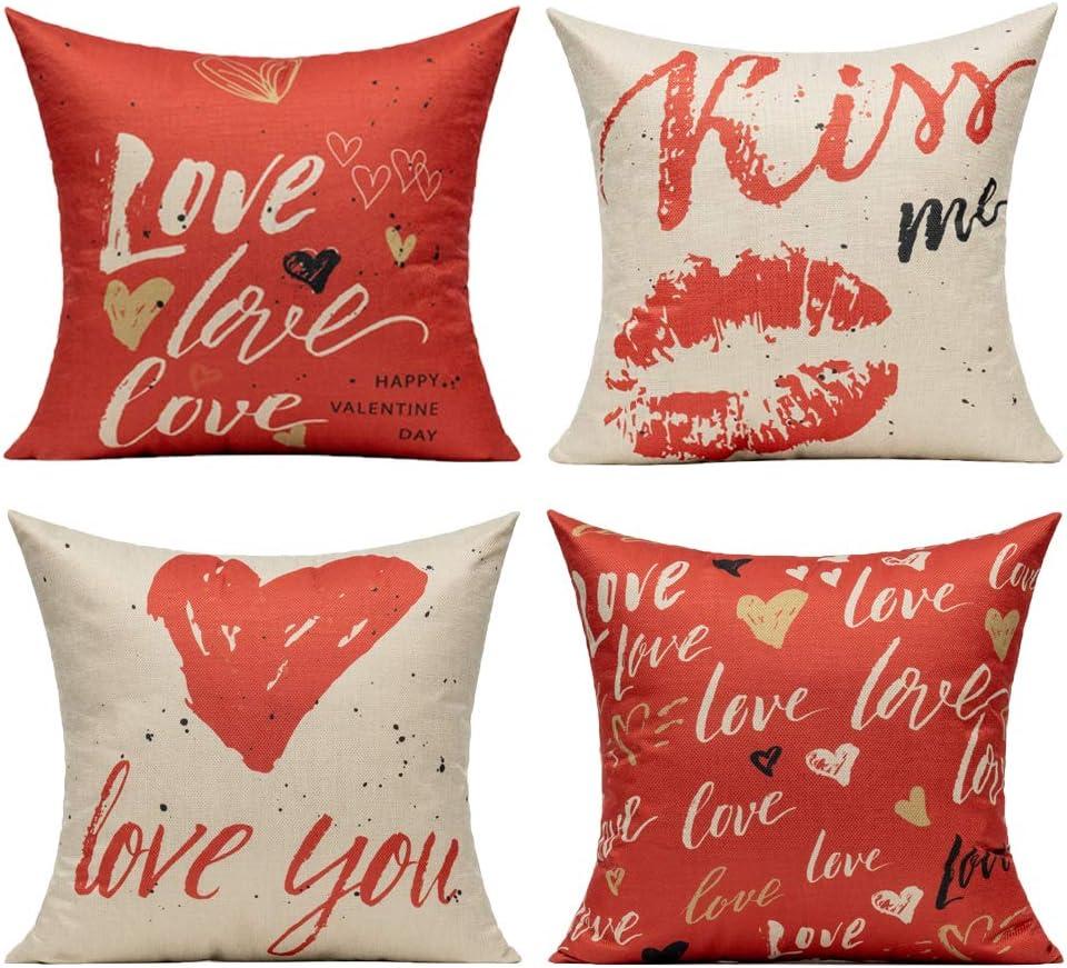 Amazon.com All Smiles Valentines Decor Throw Pillow Covers Cases ...