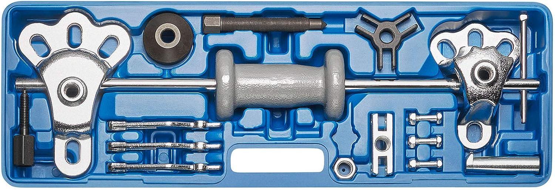 KRAFTPLUS K.277-4515 - Juego de extractores de cojinetes de rueda, bujes, discos, martillo deslizante, herramienta para eje