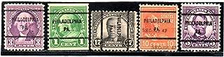USA Postage Stamp Precancel Issue Philadelphia, PA. Set Of 5 Stamps Set #297