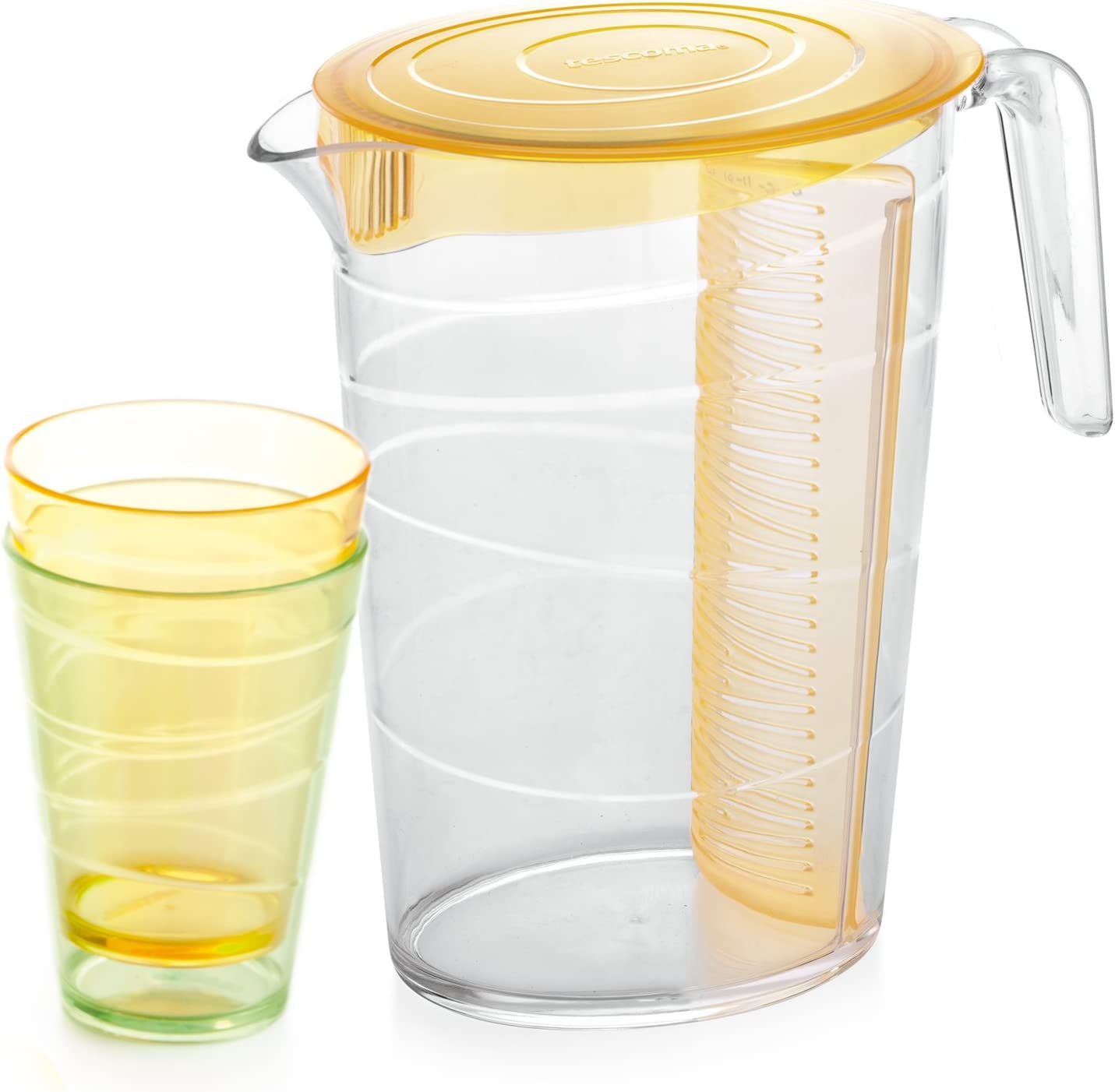 Tescoma Pitcher 2 5 L 4 Cups 2.5 Mydrink Lid Selling rankings Litr NEW before selling ☆ Orange with