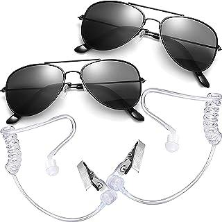 Ring Security Set Spy Gear Ring Bearer Gifts Sun Spy Glasses + Top Secret Spy EarPiece Toy Spy Gadgets Halloween Costumes