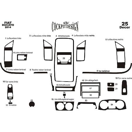 Meric Cockpit Dekor Cd Al00130 Exclusive 3d Ausführung 22 Teile Farbe Aluminium Auto