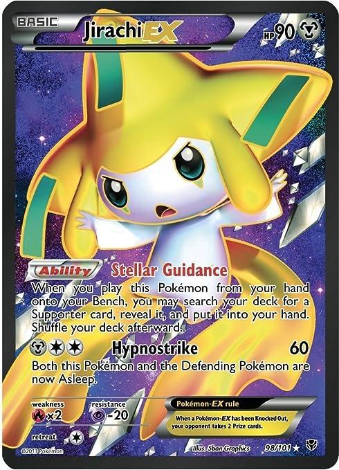 eplosion plasma 60/101 Jirachi ex-n&b French designer card pokemon ...