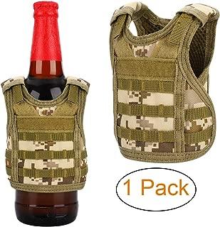 Accmor Tactical Mini Beer Vests Molle Beer Jacket Camouflage Beverage Coolie Cooler Adjustable Drink Bottle Vests Holder for 12oz or 16oz Cans or Bottles Decoration