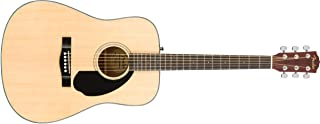 Fender 6 String Classic Design CD-60S Dreadnought Acoustic Guitar (Natural), Right, (970110021)