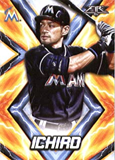 2017 Topps Fire #127 Ichiro Miami Marlins Baseball Card