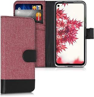kwmobile Hülle kompatibel mit Google Pixel 4a   Kunstleder Wallet Case mit Kartenfächern Stand in Altrosa Schwarz