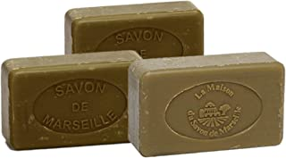 Savonnette of Marseille Soap 72% Olive Oil (Pack of 3)