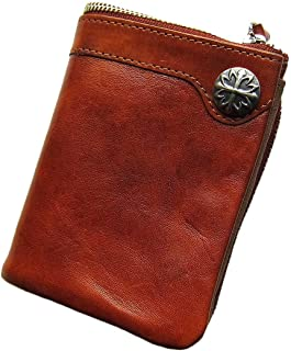 Maturi マトゥーリ プッチーニ イタリアンレザー コンチョ付 二つ折り財布 MR-022 LBR