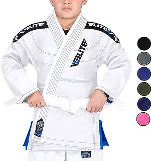Kids BJJ GI, Youth IBJJF Children's Brazilian Jiujitsu Gi Kimono W/Preshrunk Fabric & Free Belt