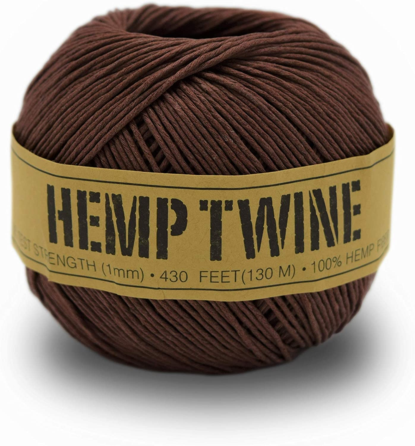 High quality 100% Hemp Twine Ball 1MM Limited time trial price 100G 430 Ft. - lb. 20 Strength Test