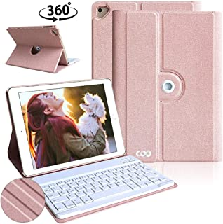 iPad Keyboard Case 9.7 iPad air 2 Case with Keyboard,Ultra Lightweight iPad Cases for New 2018 ipad 6th Generation Cases with Keyboard,Detachable Wireless Keyboard for New iPad 9.7 2018/2017 Tablet