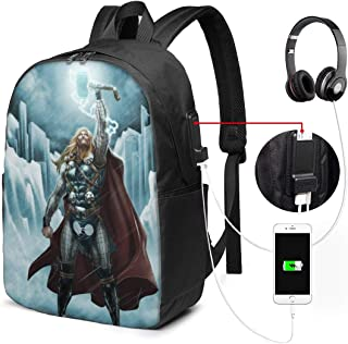 Th-Or Backpack Heavy Comfortable Waterproof And Durable With Usb Charging Port And 17 Inch For Women Men College School Student Gift Bookbag Casual Hiking Daypack