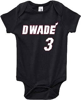 The Tune Guys Black Miami Wade D Wade Logo Baby 1 Piece