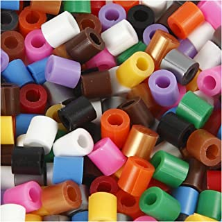 Fuse Beads with a Split, size 5x5 mm, hole size 2,5 mm, standard colours, medium, 6000ass.
