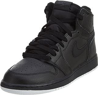 Jordan Men's Air Jordan 1 Retro High OG Black/White Black Basketball Shoes Size 6Y (GS)