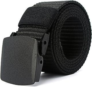 130 cm Cintur/ón con Estampado de Llamas Cintur/ón de Lona de Nylon Cintur/ón con Hebilla Cintur/ón para Jeans Cinturones Unisex de Cintura Lisa wonderday Cintur/ón Elegante para Hombre