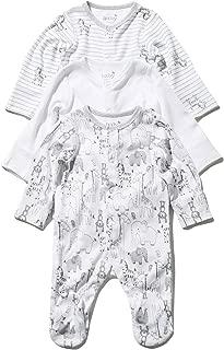 M/&Co Baby Alphabet Long Sleeve Sleepsuits Three Pack