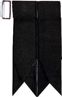 Solid Plain Black Flash Kilt Hose/Sock Flashes