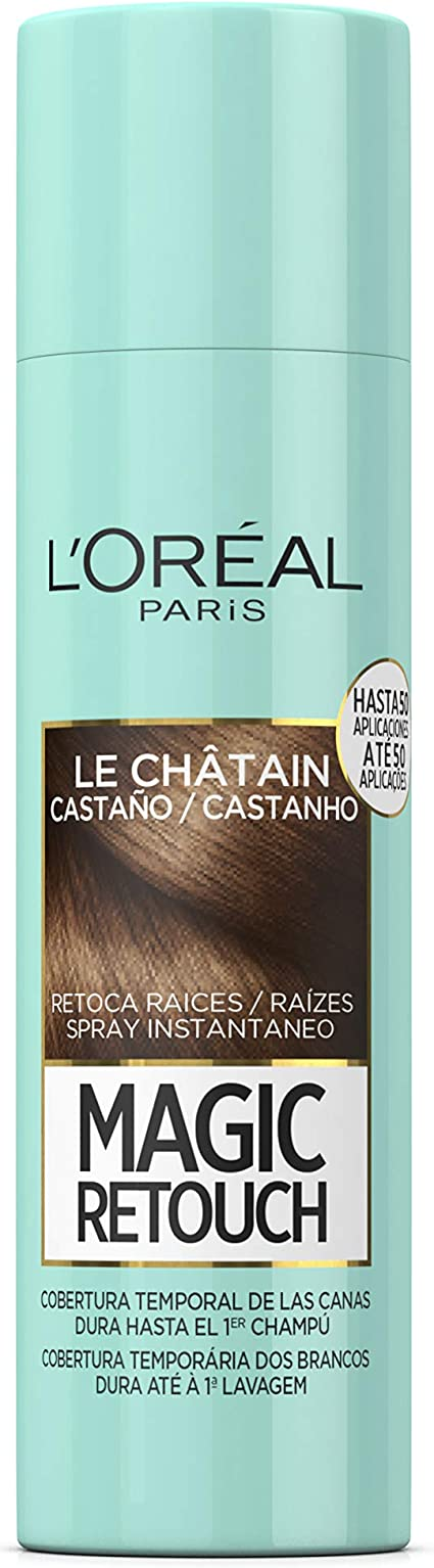 LOréal Paris Magic Retouch Spray Retoca Raíces y Canas, Castaño, 150 ml
