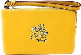 028120ed5b749 Coach X Disney Limited Edition Mickey on Motorcycle Leather Corner Zip  Wristlet