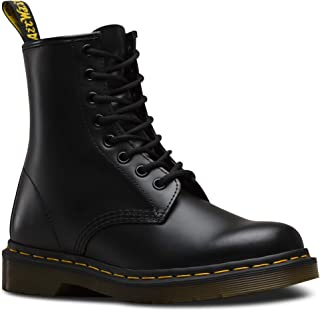 1460 Originals 8 Eye Lace Up Boot,Black Smooth Leather,6...