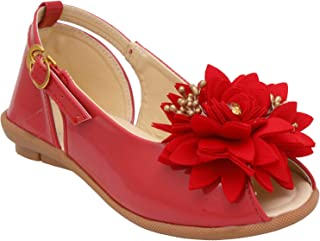 D'chica Spring Party Flower Applique Ballerinas for Girls