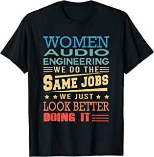 Funny Vintage Shirts Retro Audio Engineering T-Shirt