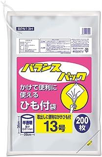 オルディ ポリ袋 規格袋 食品衛生法適合品 半透明 13号 横26×縦38㎝ 厚み0.01mm 紐付き ビニール袋 BPN13H 200枚入