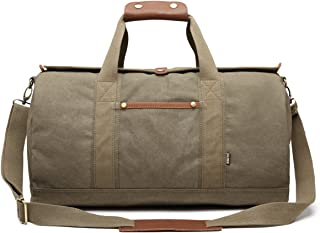 Overnight Bag Weekender Bag Carry on Duffel Bag Canvas Duffle Bag Vintage  Weekend Travel Bags for b31a5140f31d1