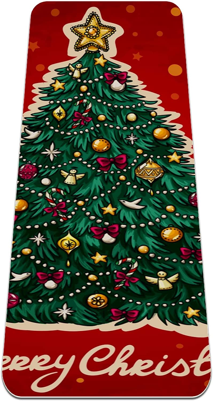 Yoga Mat Non Slip TPE Christmas 2 High to discount Japan's largest assortment Density Padding tree