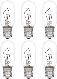Simba Lighting Microwave Appliance Light Bulb T8 40W (6 Pack) Incandescent with E17 Intermediate Screw Base for Ovens, Under Hood, Stove Top, Range, 110V 120V 125V 130V, Dimmable, 2700K Warm White