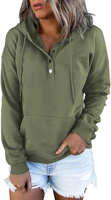 BAGELISE Womens Sweatshirts and Hoodies,Hoodies for Women Pullover Long Sleeve Botton Down Graphic Hoodie Sweatshirt